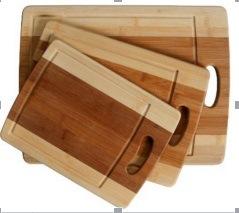 Le bambou planche à hacher avec 3 PCS SET BC-002 Planche à découper