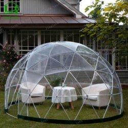 4m à 10m PVDF Tissu Glamping Semi-Transparent dôme géodésique tente pour la vente