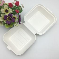 Enlever la bagasse recyclé de la vaisselle food Burger Box