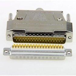 2 rangées D-SUB dB37 37pin mâle à souder le connecteur du port série pour utilisation avec PC
