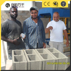 Строительство цементного4-15 Qt конкретные автоматическая машина для формовки бетонных блоков полого кирпича