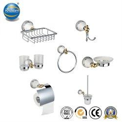 De Reeksen van de Badkamers van de Houder van het Weefsel van de Haak van de Kleren van de Ring van de handdoek voor Badkamers