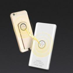 Le Qi Standard Chargeur Mobile magnétique portable sans fil avec la Banque d'alimentation 5000 mAh