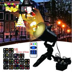 La lámpara del proyector LED para Navidad decoración de Halloween paisaje vacaciones fiestas de las luces de proyector de diapositivas de 12 diferentes temas impermeable patrón