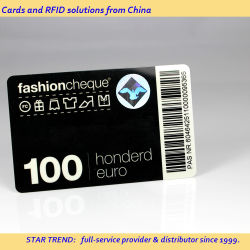 Código de barras de plástico de preimpresión, el logotipo del Club de la tienda Tarjeta inteligente juego de tarjeta de descuento VIP afiliación