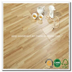 La capa superior láminas piso enchapado en roble blanco, el chino, nogal, ceniza de madera de teca de Birmania, morado