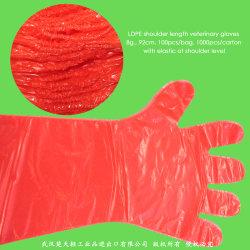 Guanti veterinari del PE della plastica/Rectal/CPE/LDPE/EVA/Polyethylene/Disposable con il manicotto lungo del braccio pieno di lunghezza della spalla per zootecnia/inseminazione artificiale