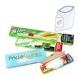 L'impression personnalisée, PEBD sac en plastique transparent avec le curseur Ziplock dans boîte de couleur