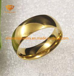 Bequemer Vergoldung-Schmucksache-Titanring Polier-IP-GoldEdelstahl-Finger-Ring SSR1964