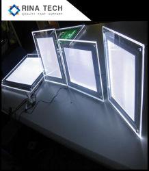 Casella chiara di cristallo sottile eccellente della visualizzazione LED di formato A0-A4