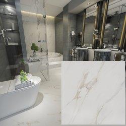Taille 60x60cm Salle à manger de la porcelaine en marbre de Carrare de tuiles de plancher