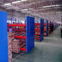 El flujo de acero de almacén de estantería para Almacenamiento de envases de cartón