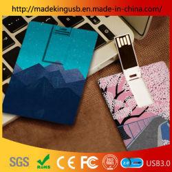 Ambas as partes de plástico pode ser impresso o Pen Drive USB de cartão bancário/Memória Flash