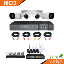 DES CCTV-analoge Ahd IP-WiFi 4in1 Sicherheitssystem-Kamera-Installationssätze Abdeckung-Gewehrkugel-Digitalnetz-Videogerät-DVR HVR Xvr Poe drahtlose NVR P2p Haupt