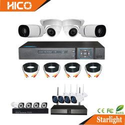 Analógico CCTV Ahd WiFi IP 4NO1 Bala Dome de rede Digital Video Recorder DVR HVR Xvr Poe NVR sem fio P2P IVR do sistema de segurança de Kits de câmara