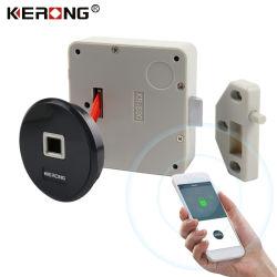 Kerong New Design Smart Bluetooth Flush Mounted Biometric Fingerprint Sensor Cabinet Door Lock for File Drawer