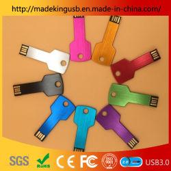 Цвета Best-Selling ключ перо диск/флэш-диск USB 3.0/2.0