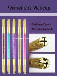 De tweezijdige HandPen van de Tatoegering met Kristal voor de Permanente Make-up van de Wenkbrauw