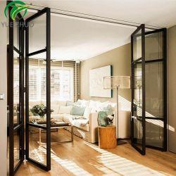 Fundição de Alumínio em revestimento de madeira de vidro corrediço de porta de dobragem de bi
