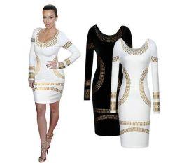 De vrouwen kleden de Nieuwe Kleding van het Potlood van Strench van de Koker van het Ontwerp Lange Strakke