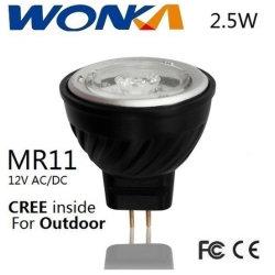 ハウジングの生命の高品質のクリー族チップ2.5W MR11/Ar11 LED点ライト