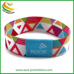 Custom Smart Polsband Durable Polyester Elastic Fabric Rfid Armband For Promotion