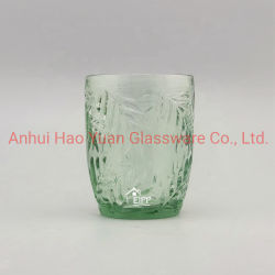 Vaso de vino en relieve mayorista cristal coloreado el cáliz de color sólido tazas