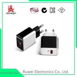 Los teléfonos móviles cargador USB puertos duales adaptador de corriente rápida