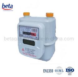 Prepago tarjeta IC diafragma medidor de gas con la parte superior del sistema
