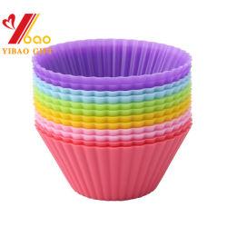 China Fabricante utensílios de silicone de alta temperatura da FDA bolo redonda Cup Copa Muffin (XY-CC-02)