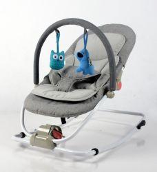 편리한 아기 견면 벨벳 흔들 의자 아기 로커 아기 도약자