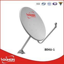 80cm de Banda Ku Antena parabólica con 500 horas de la certificación CE