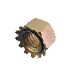 Écrou hexagonal en laiton avec la rondelle et écrou à embase en dents de scie