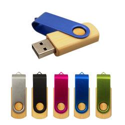 Com mais de 10 PCS sem o logotipo personalizado Fast Speed 64GB Bamboo Unidade Flash USB Pen Drive 32GB, 16GB 8 GB USB Stick 4 GB Pendrive Bambu U Disk