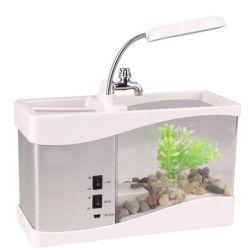 Venda por grosso mini desktop pequeno tanque de aquário de peixes de acrílico
