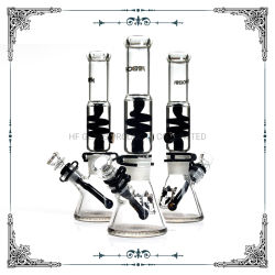 Phoenix 12 pouces noir en verre de Freezable glycérine bécher fumer de gros tuyau d'eau