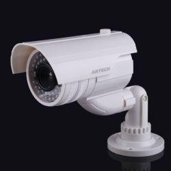 Bullet cámara con flash LED con soporte de la cámara simulada