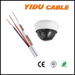 Cable conector Rg escopeta de 2 núcleos de RG6 Audio vídeo CCTV RG59 Cable coaxial de seguridad de siameses RG59+2c con alimentación de CC 0,75 mm2/0.5mm2 Multimedia Combo coaxial