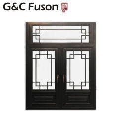 Fenêtre de l'intérieur classique de verre aluminium pour la maison Décoration de fenêtre de pivotement