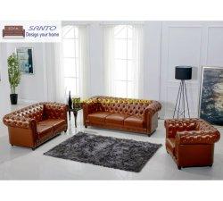 Sala 1 2 3 Chesterfield Veludo Tecido Suede tufados e Lazer Reclinador do luxo moderno Reclináveis Itália verdadeiro mobiliário de couro Real sofá de definir