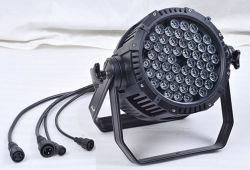 Водонепроницаемый 54*3W RGBW LED PAR может свадьбы этапе лампа