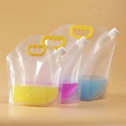 Customized fácil de transportar transparências reutilizáveis para embalagem de líquidos a calha plástica permanente da geleia leite beber cerveja Bolsa Soput Água