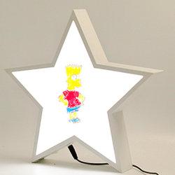 Pentagram LED de l'écriture de bricolage de forme de l'écriture Lightbox Discours inscriptible case Voyant Message Board avec Erasable Maker stylos