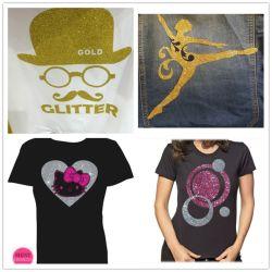 TPU Glitter Sparkle Textile de transfert de chaleur pour T-shirt en vinyle