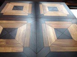 Palisandro extravagantes con parquet de madera de teca dorada /diseñado el suelo de madera