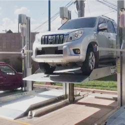 Un parking pour deux voitures de levage