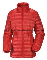 형식 여자 겨울에 의하여 덧대지는 겉옷 외투 아래로 재킷