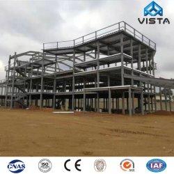 A indústria Prefab prefabricados Modular fabricada móvel moderno entreposto do Workshop de gases com efeito de projeto do prédio Luz Galvanizado Estrutura de aço da estrutura de construção