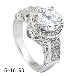 Hotsale 925 Silver Micropave CZ Rings Fancy Ring