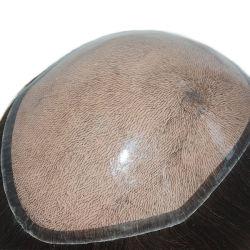 La base de silicona inyectada con aspecto natural y Calidad de los hombres de reemplazo de cabello